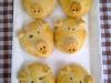 Glücksschweinchen mit herzhafter Füllung